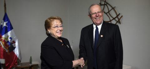 Bachelet, Kuczynski meet for 1st time since Peru elections