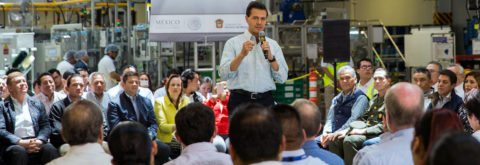 Mexican president boasts of record job creation