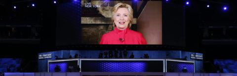 Hillary Clinton interviene por sorpresa en la convención y agradece su nominación