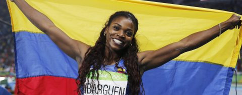 Caterine Ibarguen wins Colombia's first Olympic gold in athletics ever