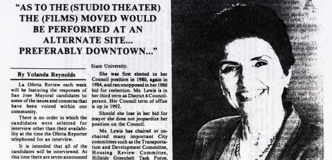 """""""As to the (Studio Theater) the (Films) moved would be performed at an alternate site… Preferably downtown"""""""