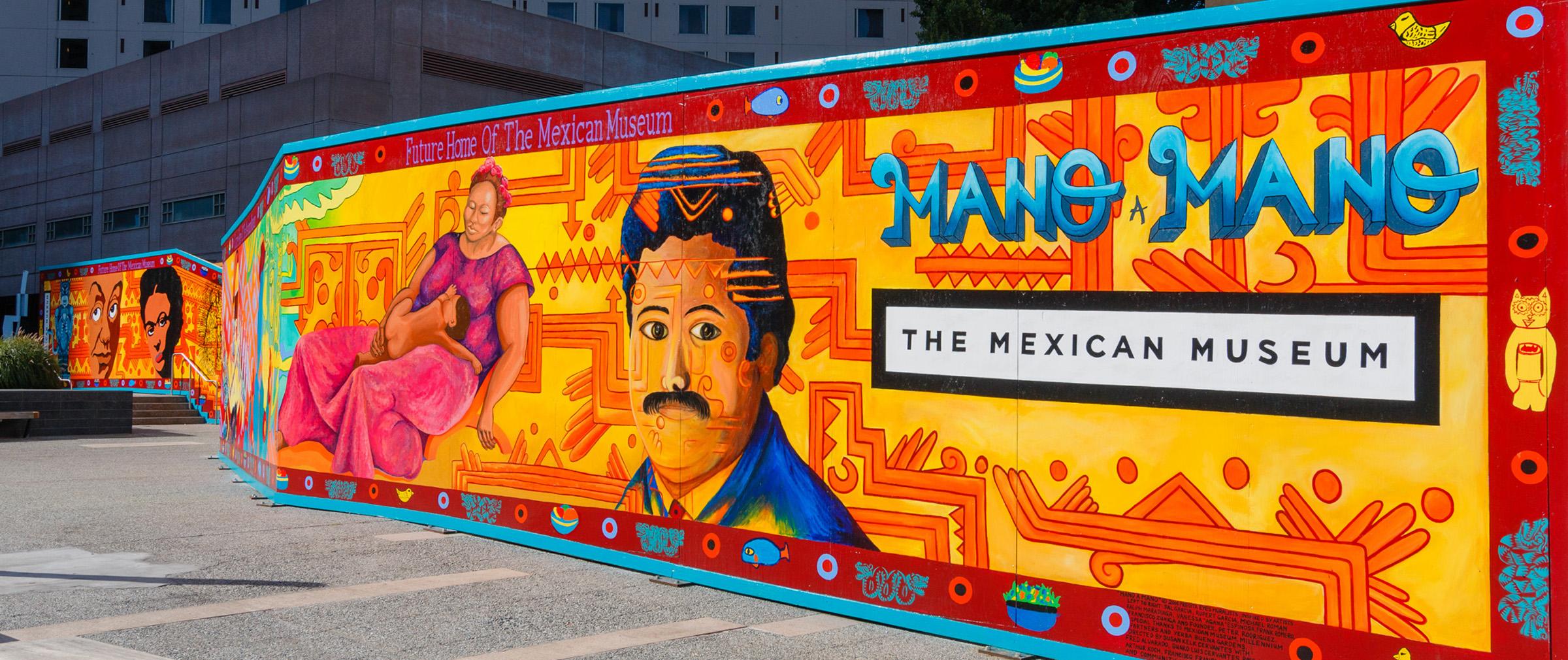 Celebrate d a de los muertos at the mexican museum for Dia de los muertos mural