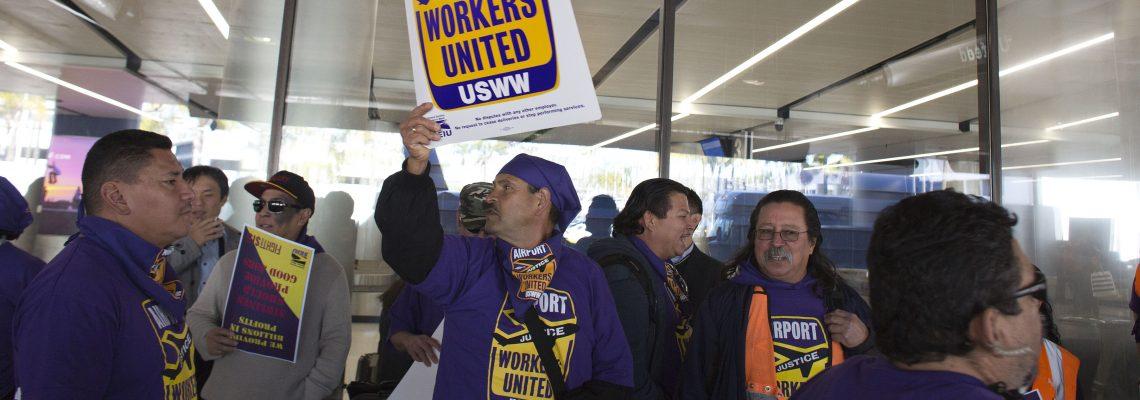 Protestas y detenciones en día de lucha por un salario de 15 dólares/hora