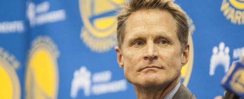 Media Conference with Golden State Warriors coach Steve Kerr