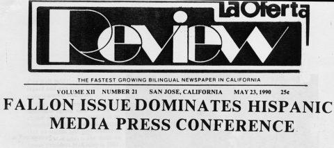 FALLON ISSUE DOMINATES HISPANIC MEDIA PRESS CONFERENCE