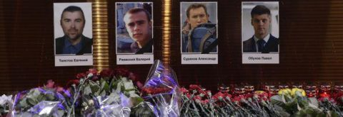 Rusia inicia duelo nacional por las víctimas accidente aéreo