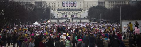 Thousands begin gathering for Women's March on Washington