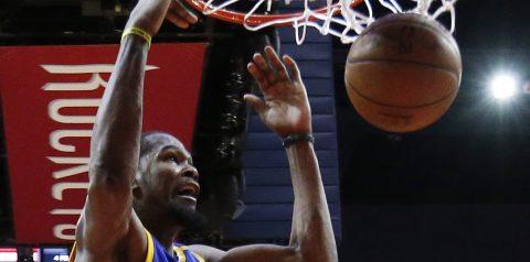 111-113. Durant aporta doble-doble para los Warriors, que juegan sin Curry