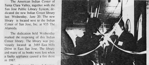 AMERICAN INDIAN CENTER LIBRARY REOPENS