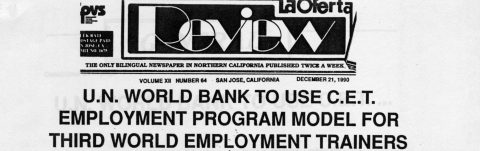 U.N. WORLD BANK TO USE C.E.T. EMPLOYMENT PROGRAM MODEL FOR THIRD WORLD EMPLOYMENT TRAINERS