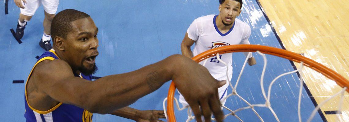 114-130. Durant lidera el triunfo contra su ex equipo los Thunder
