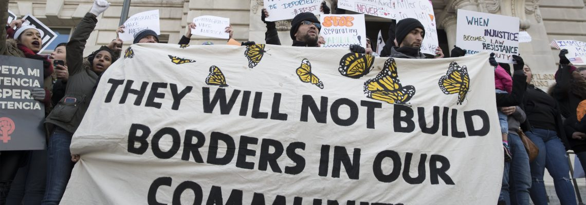 "Workers take protest to White House on ""Day Without Immigrants"""