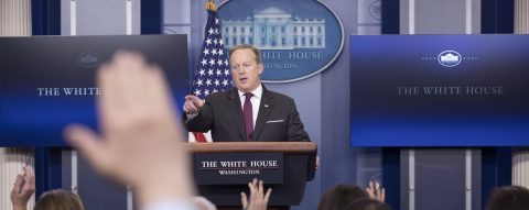 White House bars some major news outlets from Friday briefing
