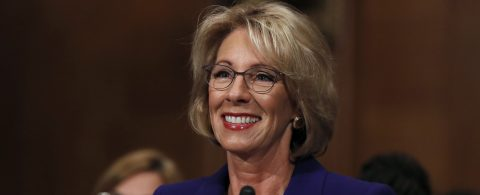 Senate approves Trump's education nominee with VP's tiebreaking vote