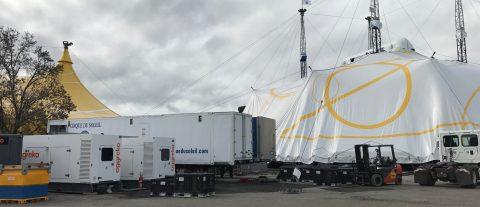 ¡Ya está instalada la nueva Gran Carpa blanca y dorada de Cirque du Soleil  en San Jose y lista para el estreno de LUZIA!