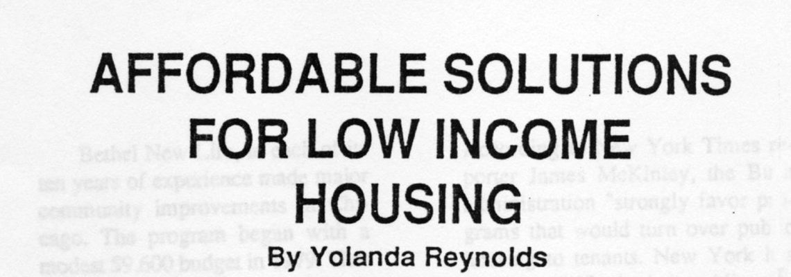 AFFORDABLE SOLUTIONS FOR LOW INCOME HOUSING