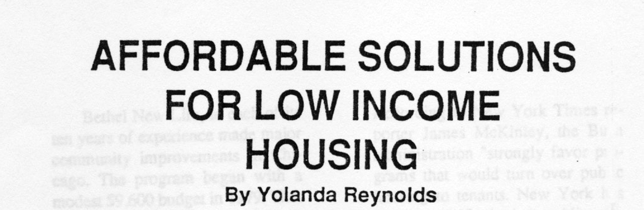 Affordable solutions for low income housing for Low cost housing solutions