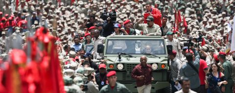 Venezuelan troops confirm unconditional backing for Maduro
