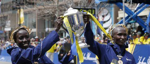 Kenyans take the honors in Boston Marathon