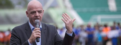 FIFA chief touts unprecedented investment in small countries