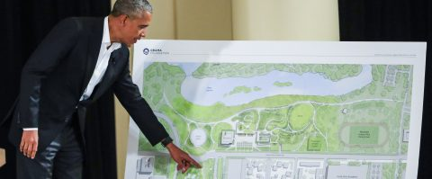 Obama unveils design of his future library and presidential museum