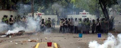 Venezuelan students lead new protests, clash with security forces