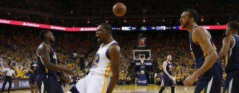 Warriors seal sixth straight playoff win as Jazz fall flat