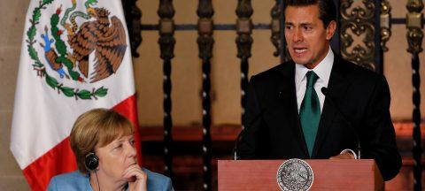 Merkel y Peña Nieto unen fuerzas por el libre comercio y lanzan dardo a Trump