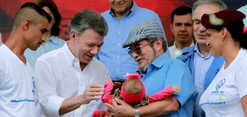 Colombian president proclaims end of war with the FARC