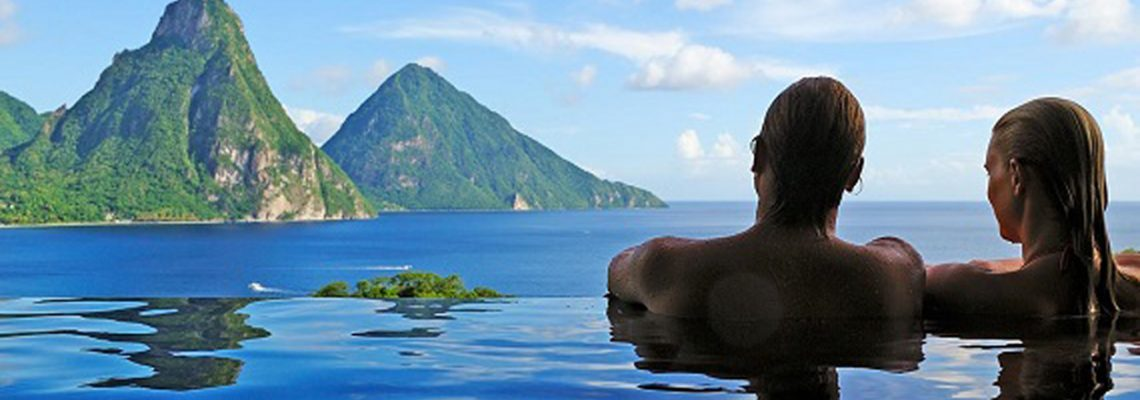 Jade Mountain: A room with a view