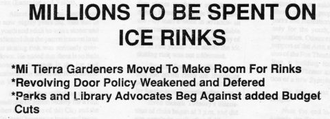 MILLIONS TO BE SPENT ON ICE RINKS