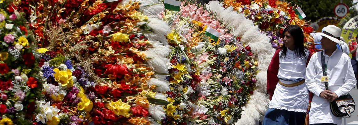 Colombia celebrates 60th year of Silleta Parade at Festival of Flowers
