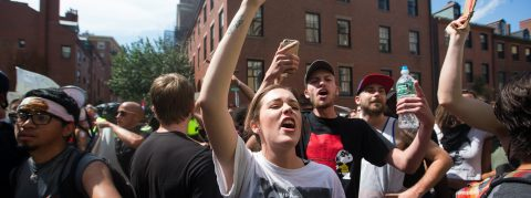 Counter-protesters outnumber extreme right in Boston's Free Speech Rally