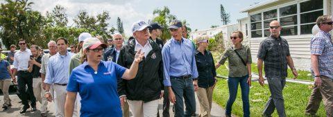 "Trump promises to ""help Florida"" on visit to devastated area"