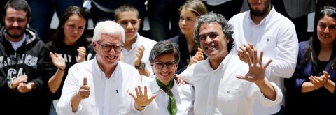 Colombian leftist presidential hopefuls form coalition for 2018 election