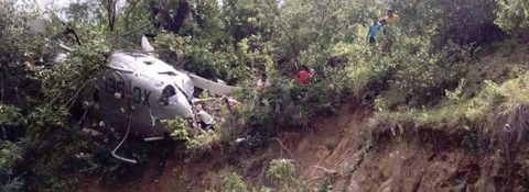 Chopper bringing aid to quake victims crashes in southern Mexico
