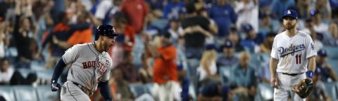 Astros defeat Dodgers in Game two, tie World Series 1-1