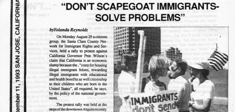 """DON'T SCAPEGOAT IMMIGRANTS –SOLVE PROBLEMS"""