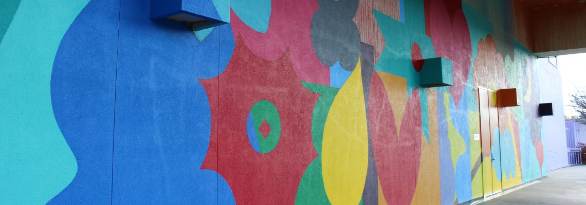 Immersive Mural Transforms Enormous Covered Entryway at Children's Discovery Museum of San Jose