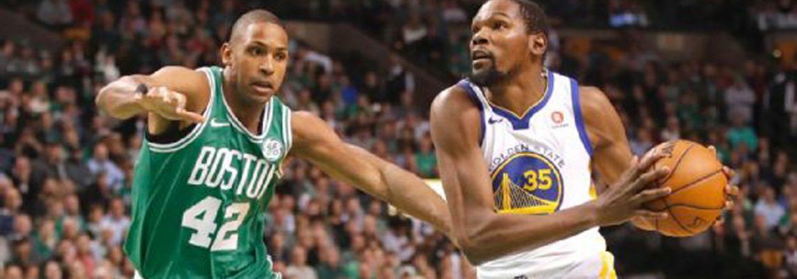 92-88. Ante los Warriors, Irving se quita la máscara y lidera el decimocuarto triunfo de los Celtics