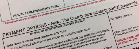 El Condado de Santa Clara ofrece nuevo programa de pago parcial de impuestos a la propiedad, a partir del primero de noviembre