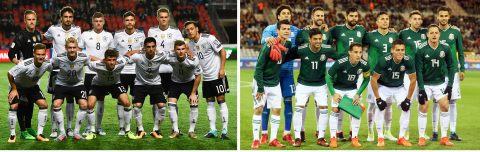 Group F, with Germany and Mexico, has most followers on social networks