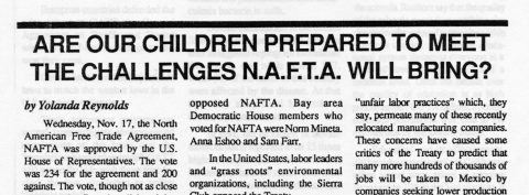 Are our children prepared to meet the challenges N.A.F.T.A. will bring?