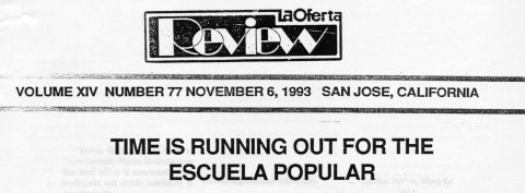TIME IS RUNNING OUT FOR THE ESCUELA POPULAR