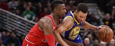 112-119. Thompson y Curry pueden con inspiración de Mirotic y ganan Warriors
