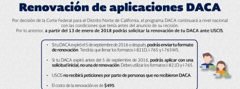 El Consulado a tu lado: asesórate sobre las renovaciones de solicitudes de DACA