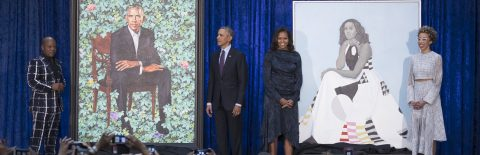 Former President Obama's official portrait unveiled in Washington
