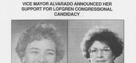 VICE MAYOR ALVARADO ANNOUNCED HER SUPPORT FOR LOFGREN CONGRESSIONAL CANDIDACY
