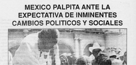 México palpita ante la expectativa de inminentes cambios politicos y sociales