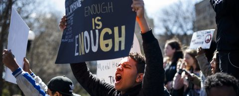US students mount another school walkout over gun violence